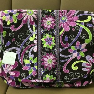 NWT Vera Bradley Messenger Bag Purple Punch